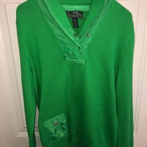 Ralph Lauren Lauren Active Green 1/4 button XL